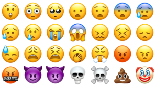 Different emojis showing up in eDiscovery litigation